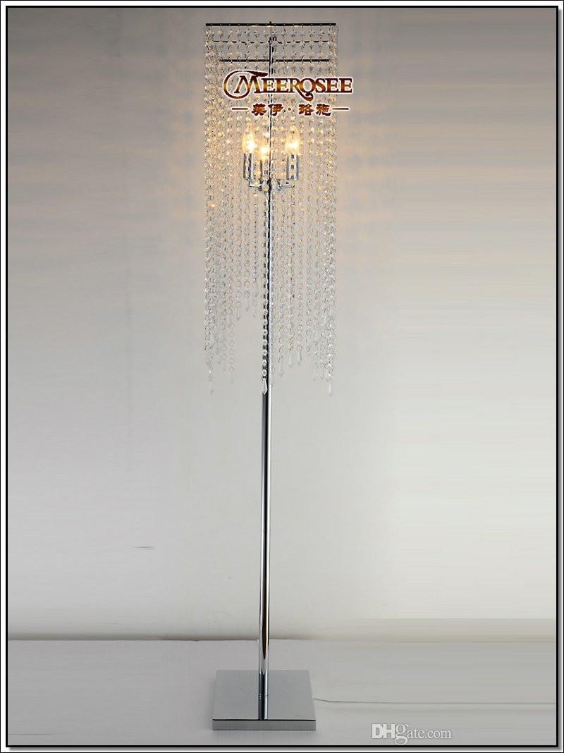 Modern Popular Crystal Floor Lamp, Chrome Floor Stand lighting Meerosee stand lighting FL10008