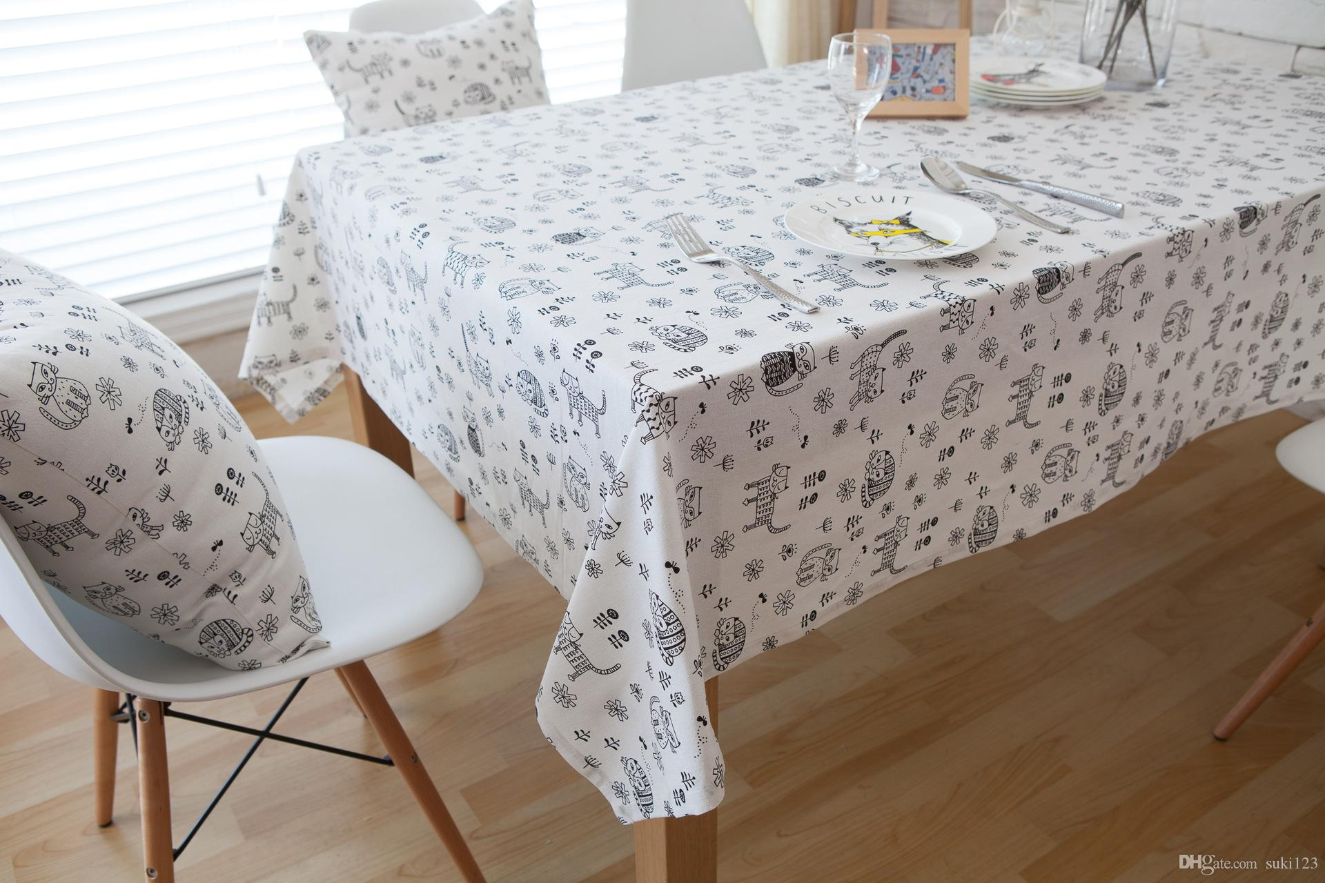 Foreign Trade Fabric Table Cloth Cotton Table Taiwan Environmental  Protection Cartoon Garden Thick Cloth Dining Tablecloth Table Cloths  Factory Flannel ...
