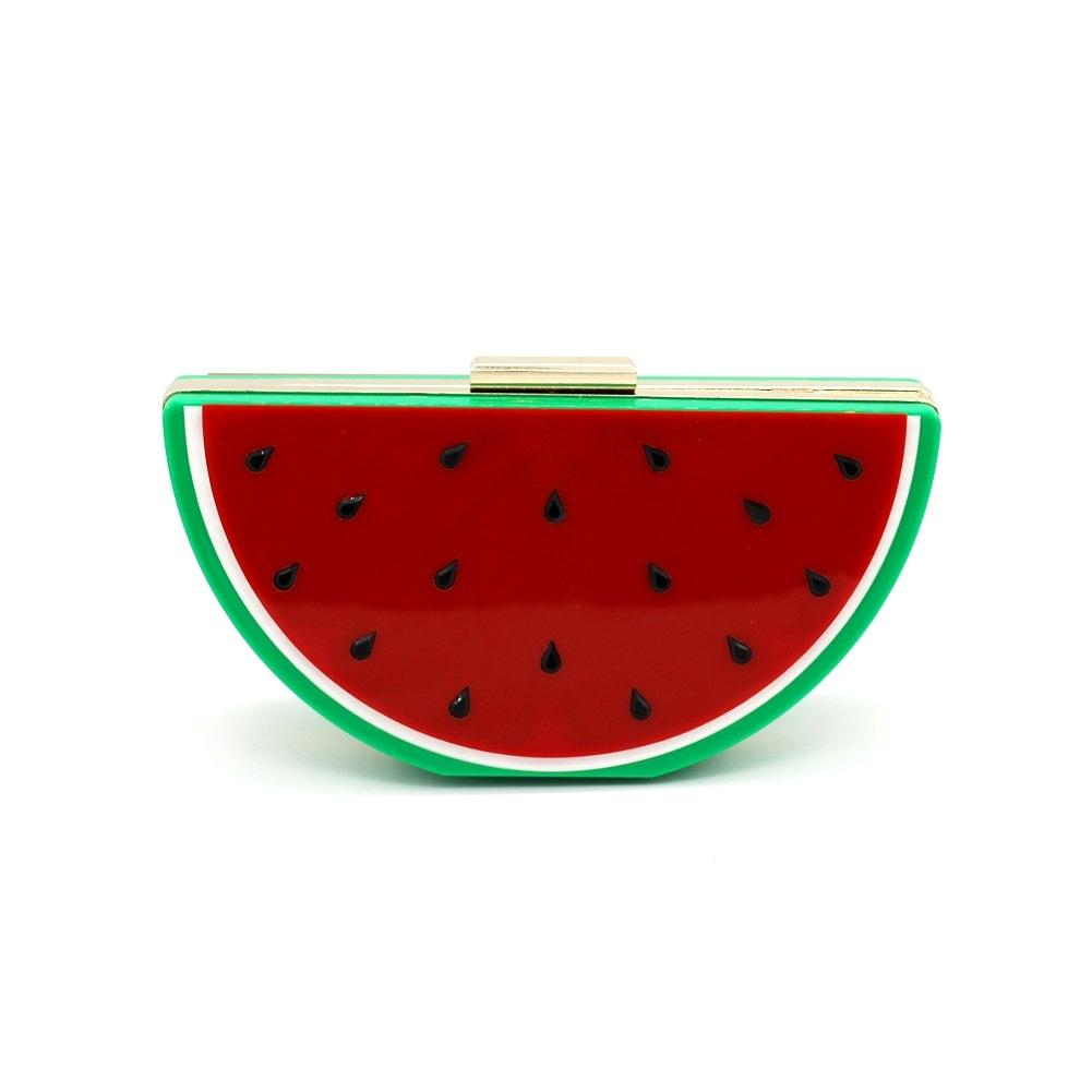 New European Fashion Acrylic Lovely Fruit Shape Watermelon Bag Women's Creative Party Handbag Hot Sale Shoulder Bag