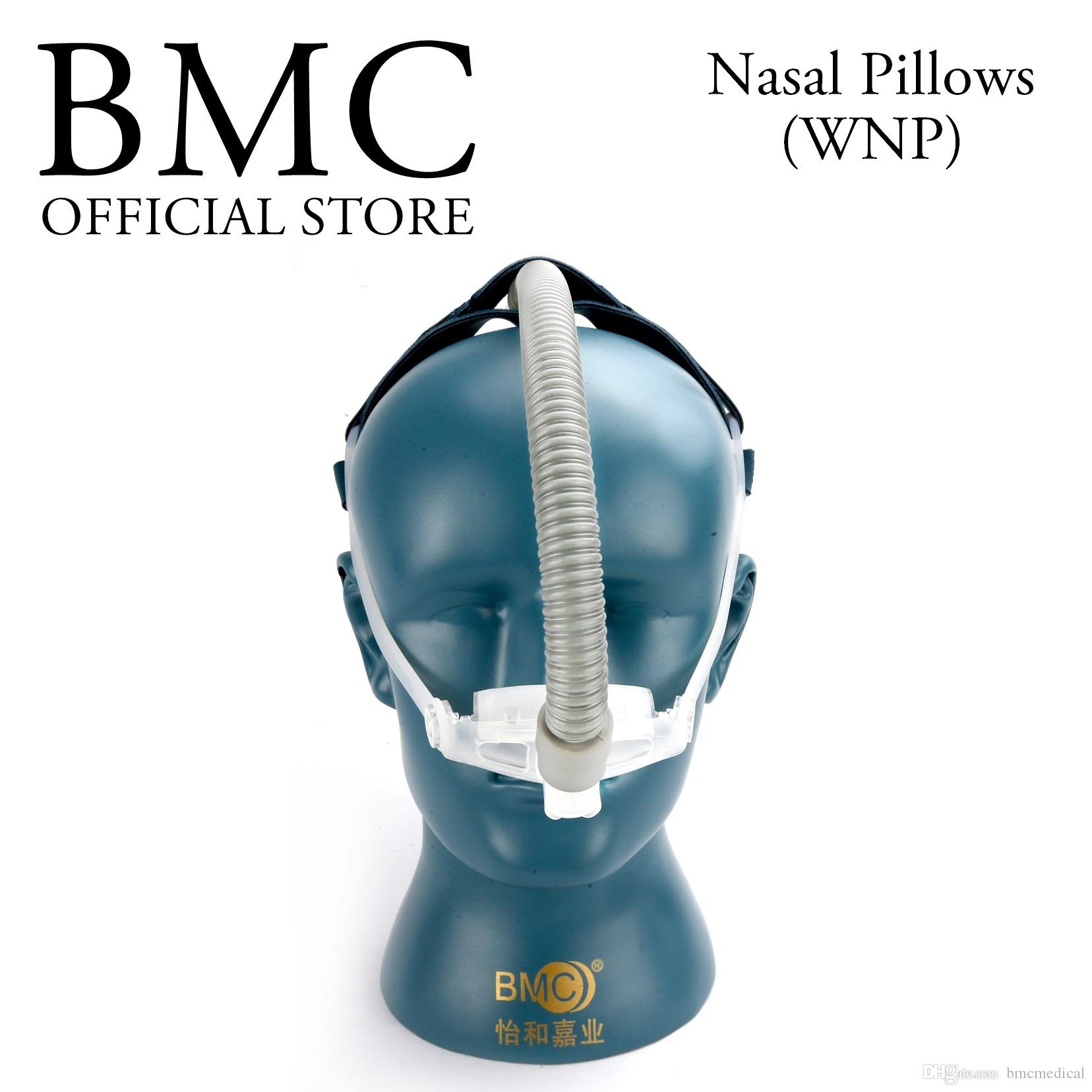 bmc wnp nasal pillows mask packaing sml 3 size silicon pad cpap machine medical interface cpap full face masks custom face mask from bmcmedical