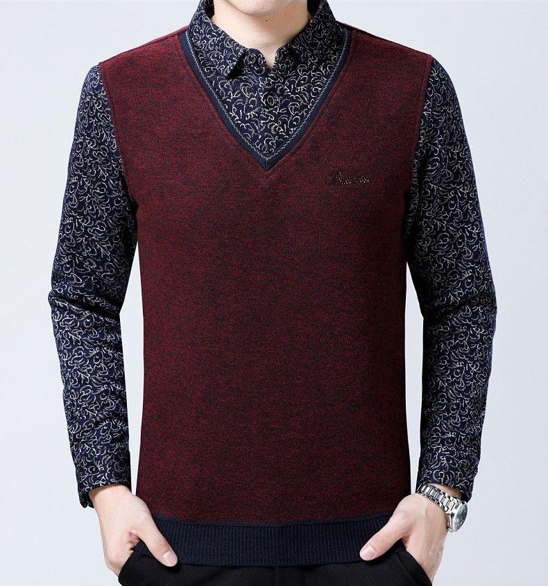 151f7207db33f Acheter Une Nouvelle Chemise D homme D hiver Avec Un T Shirt En Velours Et  Des Vêtements Pour Hommes Est Un Véritable Avertissement Pour Un Homme Qui  Fait ...