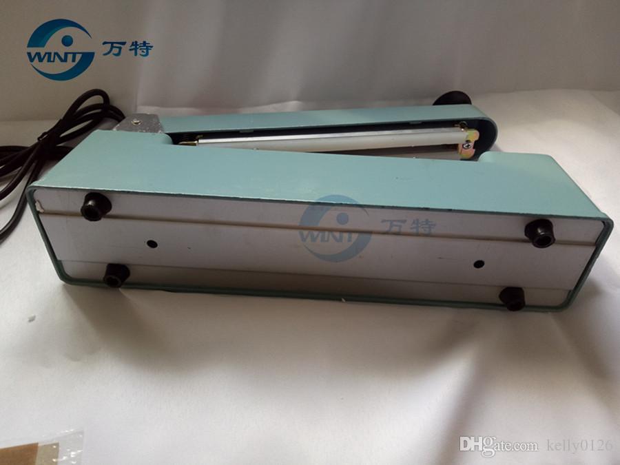 Good quality ,200MM hand impulse sealer with cutter handheld heat impulse sealer Manual sealing machine Aluminum body