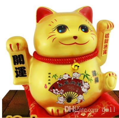 Оригинальные творческие и богатства кошка создать золотой богатый кот электрический рокер большой магазин открытие и набор подарков