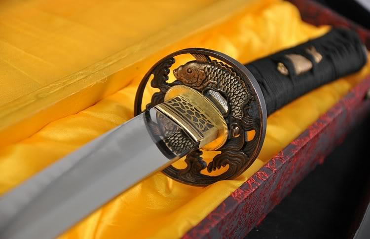 JAPANESE CLASSICAL POLISHING CLAY TEMPERED SAMURAI SWORD KATANA RAYSKIN SAYA
