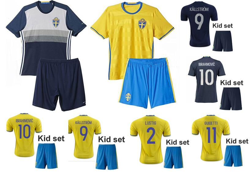 2b11ac3aa ... best sweden soccer jersey 2016 rio olympic euro cup ibrahimovic  kallstrom lustig national team blagu