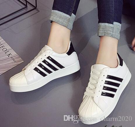 6055f1ea9d75e Spring Men And Women Couples Shell Head Classic Sports Leisure Small White  Shoes Men And Women Shell Head Board Shoes Shoes Online with  23.96 Pair on  ...