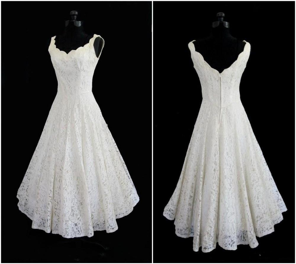 Discount 2016 Full Lace Short Beach Wedding Dress A Line