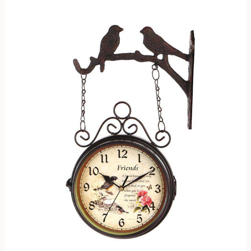 wrought iron klok double sided wall clock vintage watch retro saat relogio parede digital reloj mural duvar saati horloge murale modern wall clocks modern