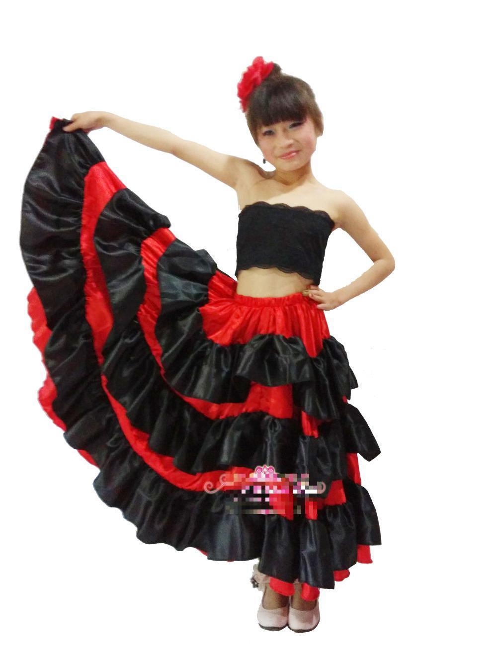 2018 New Kidu0027S Flamenco Dance Dress Girl Flamenco Dresses Spanish Paso Doble Dance Costume For Girl Samba Ballroom Dresses From Allstars $16.28 | Dhgate.  sc 1 st  DHgate.com & 2018 New Kidu0027S Flamenco Dance Dress Girl Flamenco Dresses Spanish ...