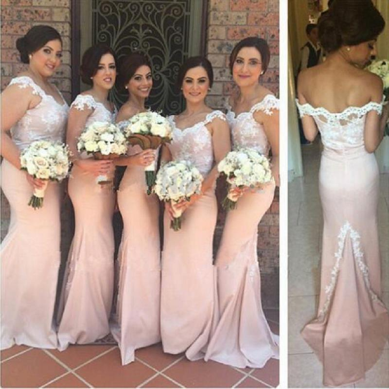 2018 Nude Bridesmaids Dresses Mermaid Trumpet Style Floor Length Cap Sleeve  Maid Of Honor Gowns For Sale Vestidos Madrinha De Casamento Red Bridesmaids  ... 1cc61091dd98