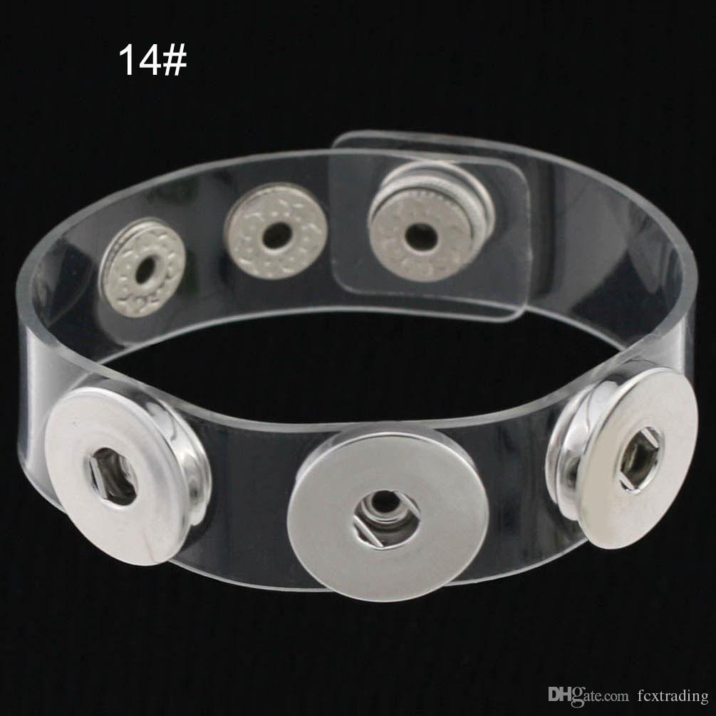 Charm Armbänder Silber Snap Fit DIY Snaps Tasten Schmuck 18mm Günstige Knoten Ingwer Snap Schmuck Lederarmbänder