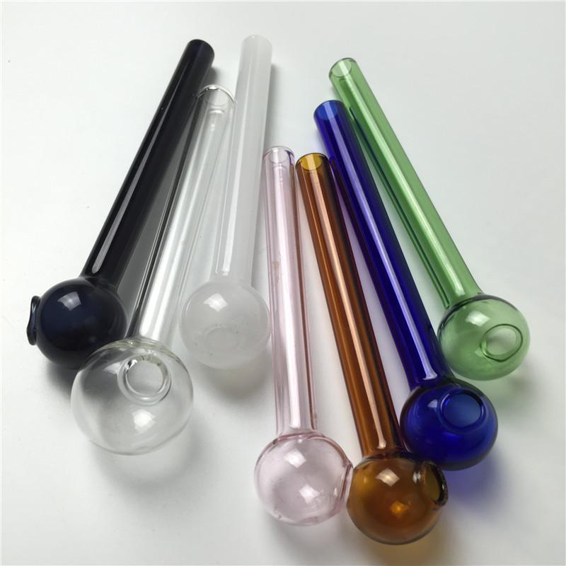 Трубы из горелки Pyrex Glass с 7 барботерами с масляной горелкой толщиной 10 см для курения дешевых трубок из стекла
