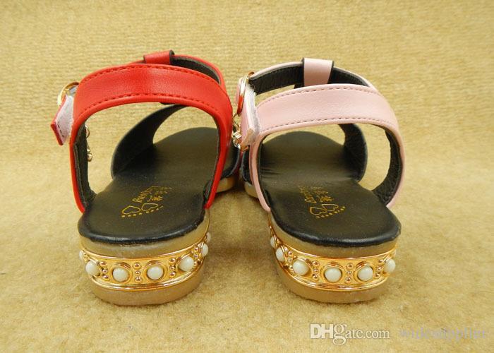 2016 Sommer Kinder Schuhe hochhackigen koreanischen T-Version Tanzschuhe Mädchen Schuhe Jungen Schuhe Größe 26-30 1 Los = 5 Paare