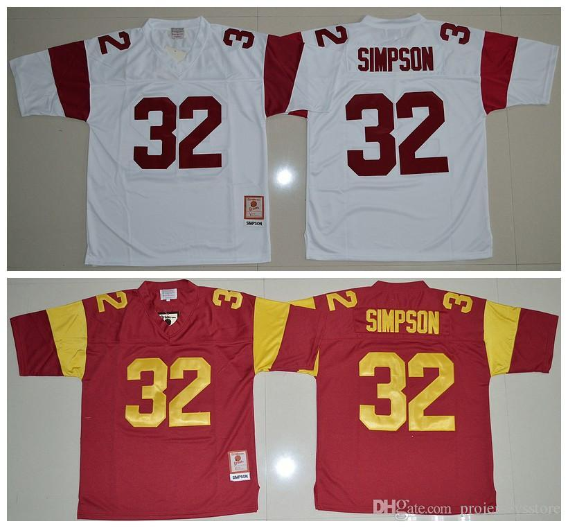 2019 Cheap O.J Simpson USC Trojans  32 O.J Simpson Jersey Red White NCAA  College Football Jerseys From Projerseysstore 69d26bad5