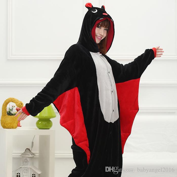 Costumes Unisexe Adulte Cosplay Pyjamas Animaux Chauve-Souris Kigurumi Halloween Costume