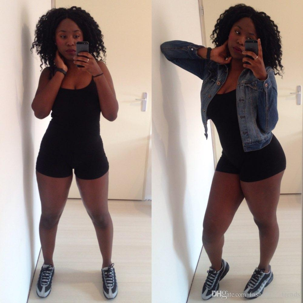 المرأة الصيف BODYSUIT السروال القصير بذلة إمرأة مثير عارية الذراعين الأسود السراويل الهيئة غير الرسمية حللا ملابس combinaison فام عارضة زائد حجم S-3XL