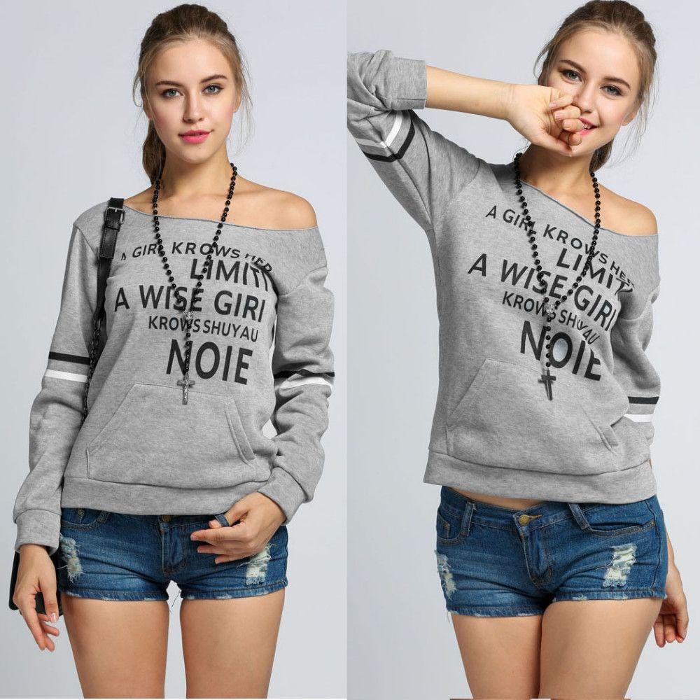 Maglione stampato a maniche lunghe Stampato in Europa e negli Stati Uniti esposto maglietta maglione a collo alto lettere lettere oblique