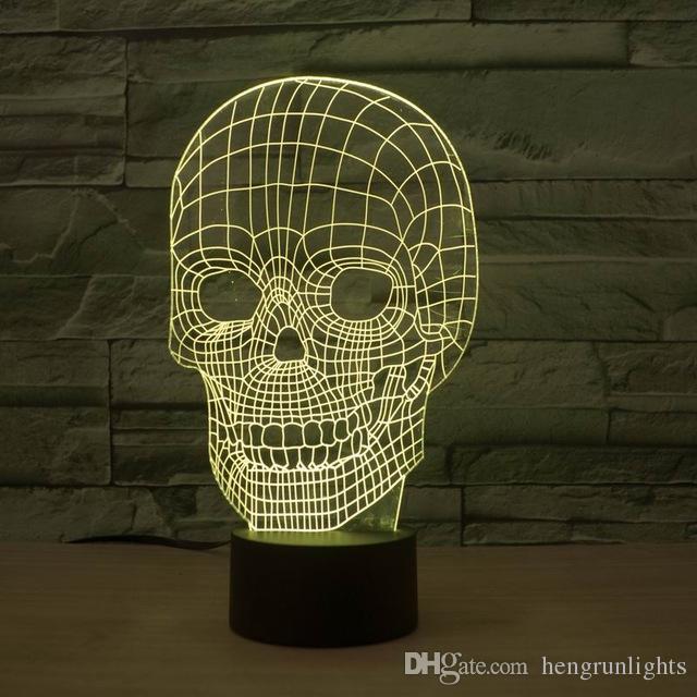 купить оптом удивительные 3d иллюзия череп свет водить стол