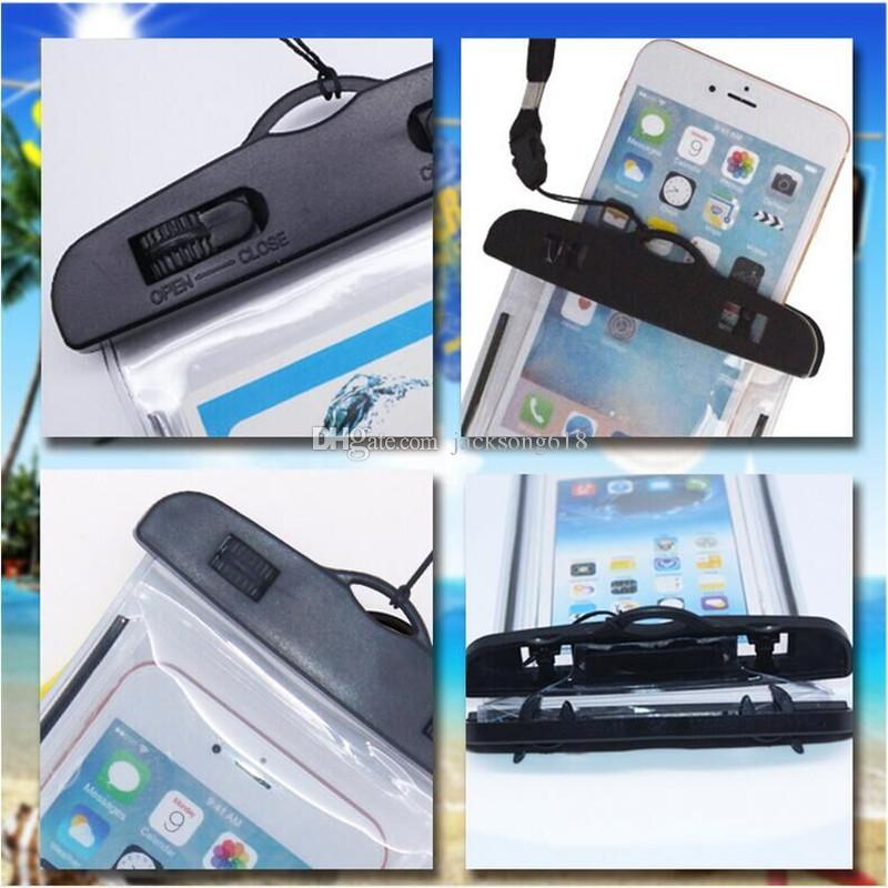 2016 newest Waterproof Pouch Bag Promotion Clear Dry Case Cover For Cell Phone iphone 4/5/6 SamsungS3/4/5 Huawei xiaomi Wholesale
