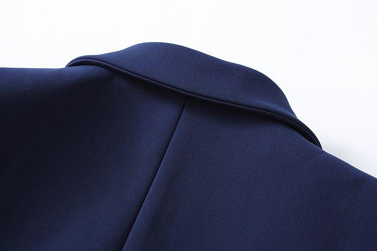 Nova Moda 2018 regular E casual Designer Blazer Jacket das Mulheres Botões de Ouro Double Breasted Blazer Outerwear tamanho S-XXL