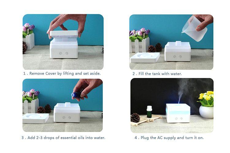120 ml mini portátil ultrasónico esencial de aceite difusor de aire ambientador ST98-5B