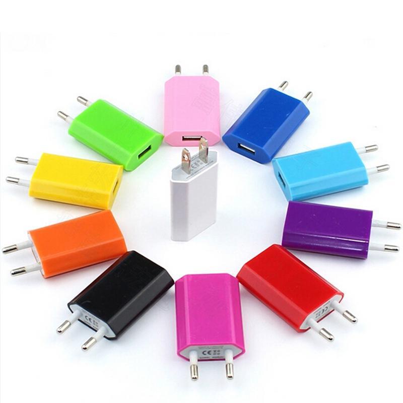 Красочные прямые зарядные устройства универсальный телефон зарядные устройства для США ЕС Plug адаптер переменного тока зарядное устройство Зарядное устройство