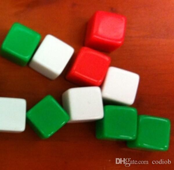 Мини 6 односторонняя пустые кости 12 мм квадратные углы свет доска цветные кубики весело образовательные игрушки можно написать небольшой подарок сувенир украшения #B18