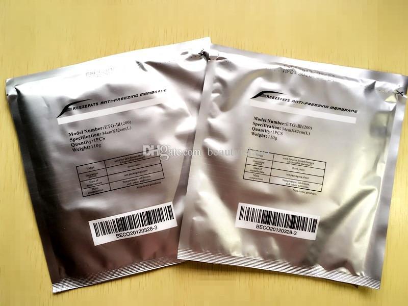 Yağ Zarlar Cryo Klinik Salon Kullanımı İçin Tampon Antifriz Kriyoterapi Antifriz Membran 27 * 30CM 34 * 42cm Soğuk Dondurucu Karşıtı Donma
