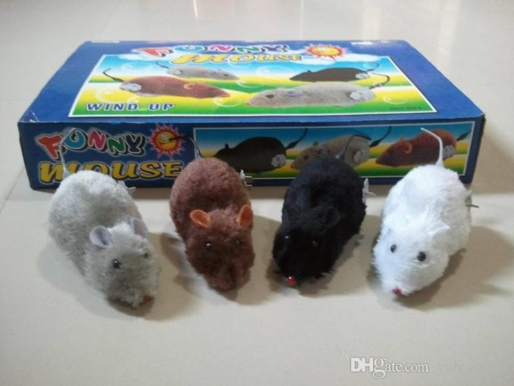 Plush mouse on the chain clockwork small children's educational toys nostalgic recognize animal pet cat dog toys