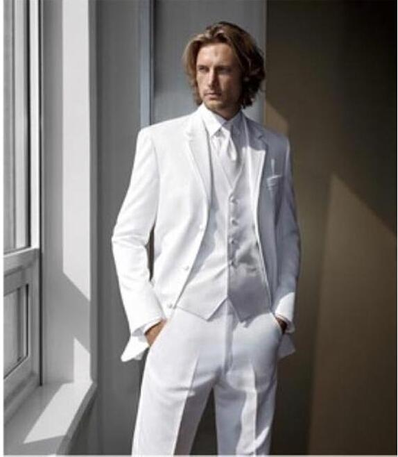 wholesale custom made Short-Jacket--White-Tuxedo-Wedding-Design-in-Modern handsome men's suit new design fashion style for wedding and party