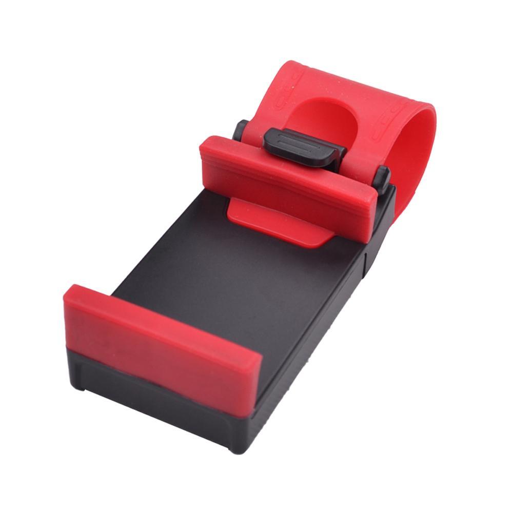 Suporte de volante do carro design elástico suporte do telefone móvel suporte para iphone 4s 5 5s 5c smartphone gps mp4 pda-cor aleatória ordem $ 18no t