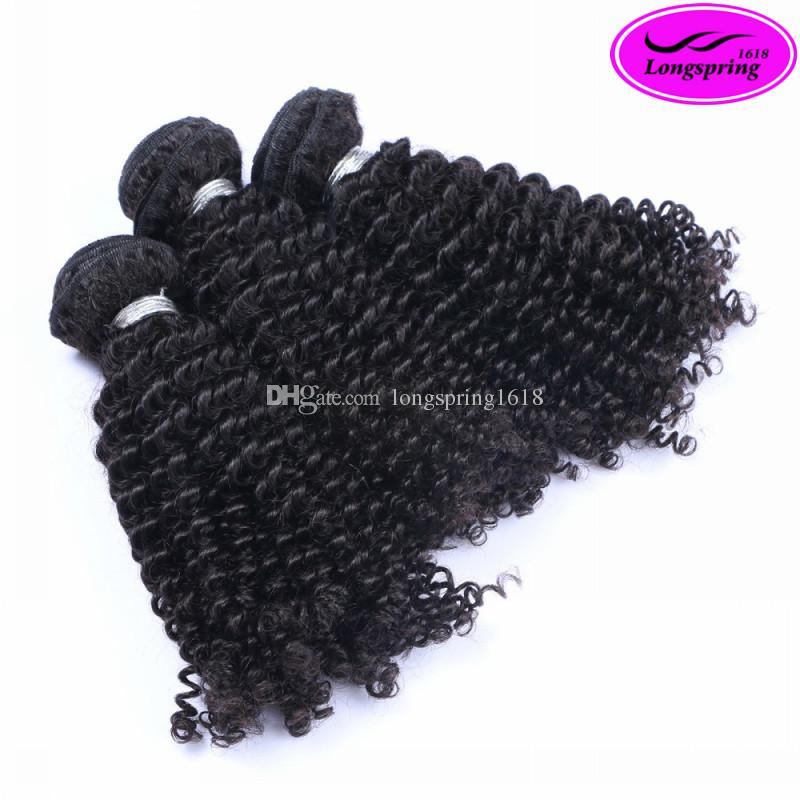 Brazilian Curly Peruvian Malaysian Indian Virgin Human Hair Extensions Natural Black Brazilian Kinky Curly Beauty Remy Human Hair Weaves