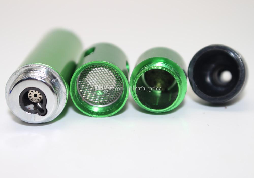 Click N Burn Briquet Stylo Vaporisateur à base de plantes Fumer Bangs Pipe Touch Briquet à flamme avec lampe intégrée à l'épreuve du vent, lampe de poche Cliquez N Vape DHL