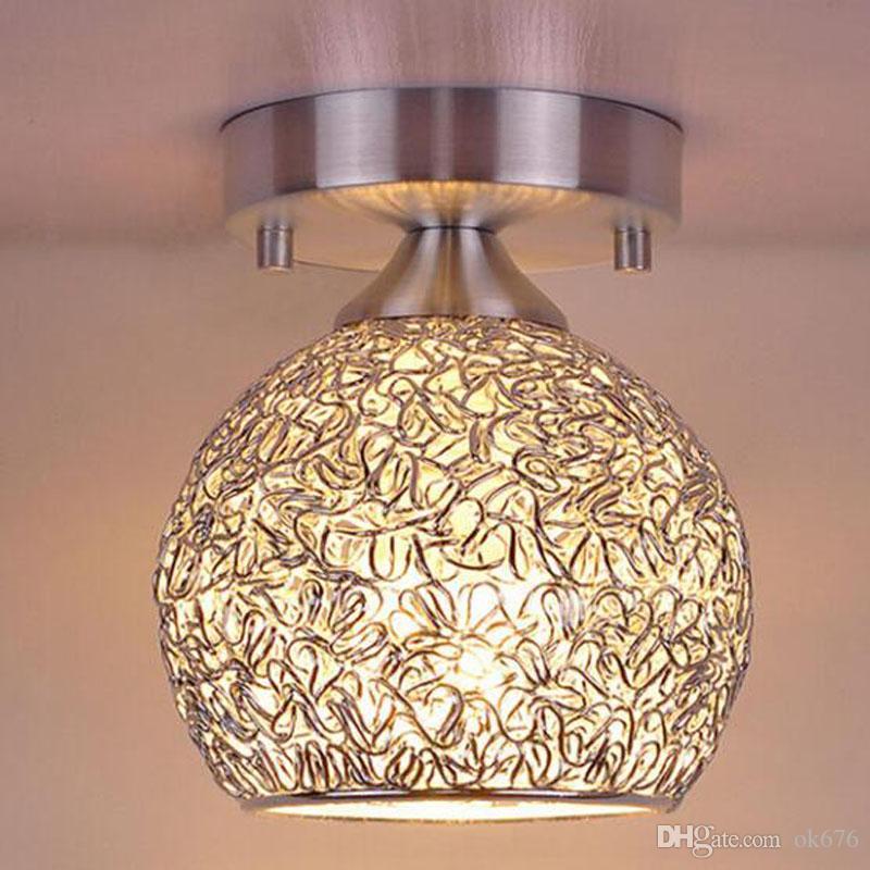 Mini creativo moderno lampadari lampade a soffitto in alluminio con lampadina a colori caldi camera da letto e armadio nuovo arrivo