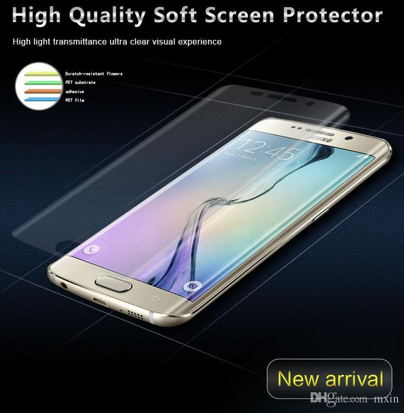 3D Full Coverage Curved Soft TPU Anti-Shock High Clear PET Screen Protector For iPhone X 8 7 6 6S Samsung S6 S7 S8 Plus Note Note8