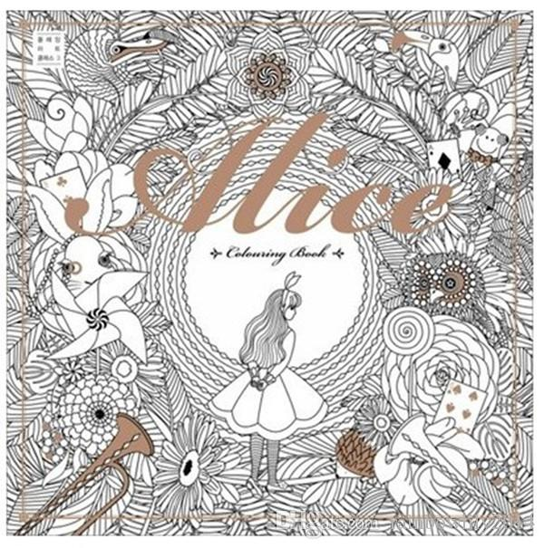 Top Selling 2525cm Alice In Wonderland Colouring Book Secret Garden Style Coloring Relieve Stress Kill Time Graffiti Painting Books
