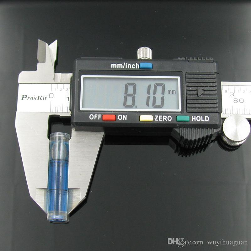 25 قطعة / الكثير 8 * 35 مم البلاستيك أنبوب فقاعة المستوى فقاعة المستوى الروح للصورة أداة قياس مستوى الإطار