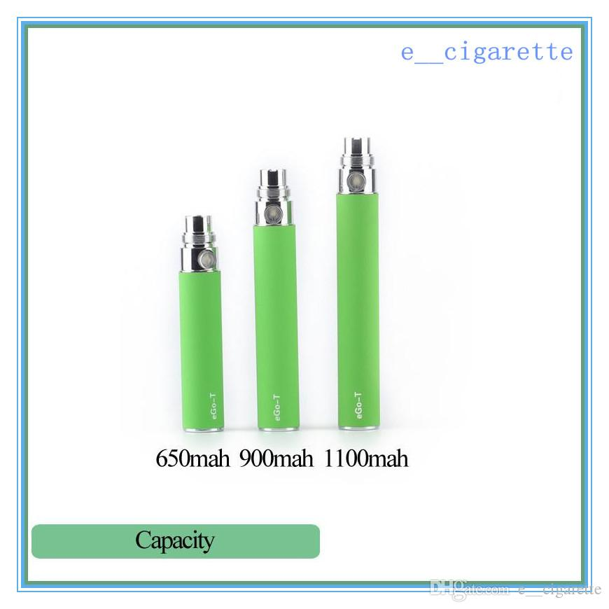 Batteria EGO-T sigaretta elettronica colorata E-cig Ego-T Ego-W Ego-C MT3 510 Discussione CE4 CE5 CE6 650mah 900mah 1100 mah e sigaretta