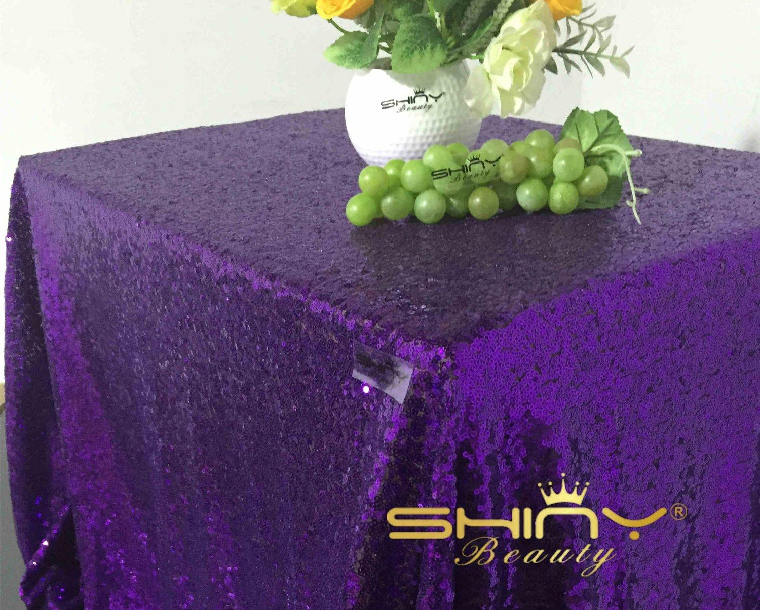 Square Purple Lace Tablecloth Or Table Cloth 90 Inch For Wedding Custom Made Decorations Cake Skirts