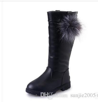 Cute Girls Boots Children Winter Shoes Princess Fashion Boots Kids Plush Snow Boots for Girls Shoes