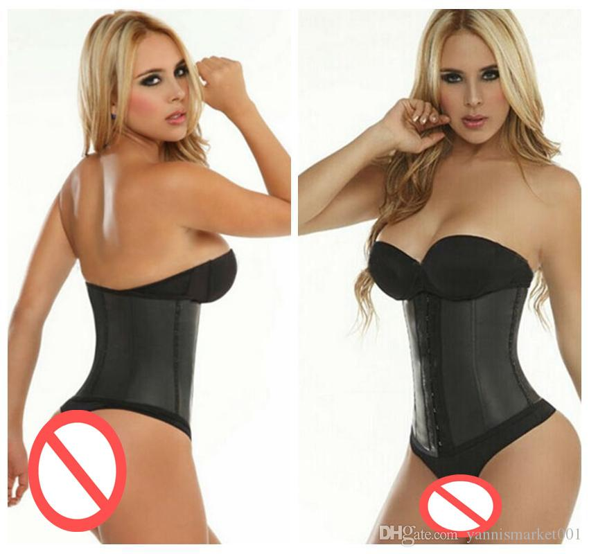 92f2d7920d0 2019 Wholesale Thicken Ann Chery Latex Rubber Waist Training Corsets Ann  Chery Waist Cincher Hot Ann Chery Body Shaper Waist Trainer Corsets From ...