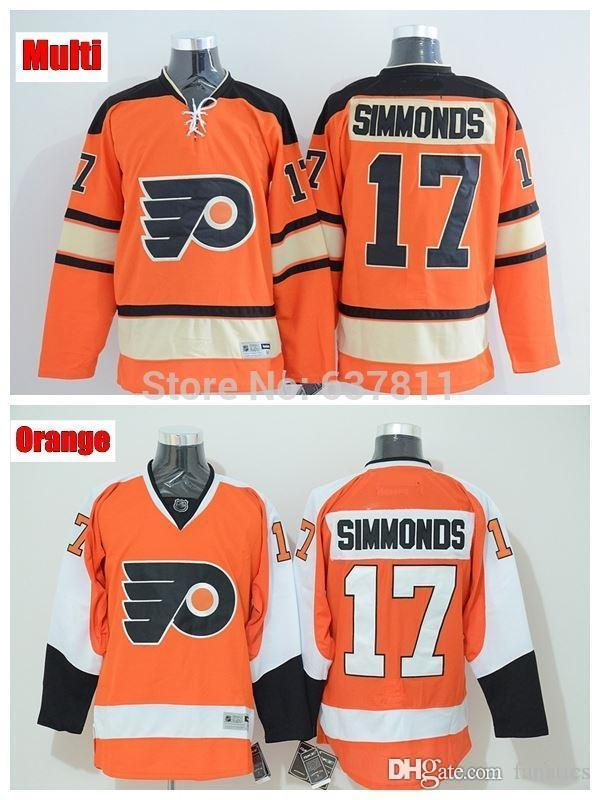 3e3daa2b Men's #17 Wayne Simmonds Philadelphia Flyers Hockey Jerseys 2012 Winter  Classic Orange Authentic Wayne Simmonds Jerseys Stitched logo