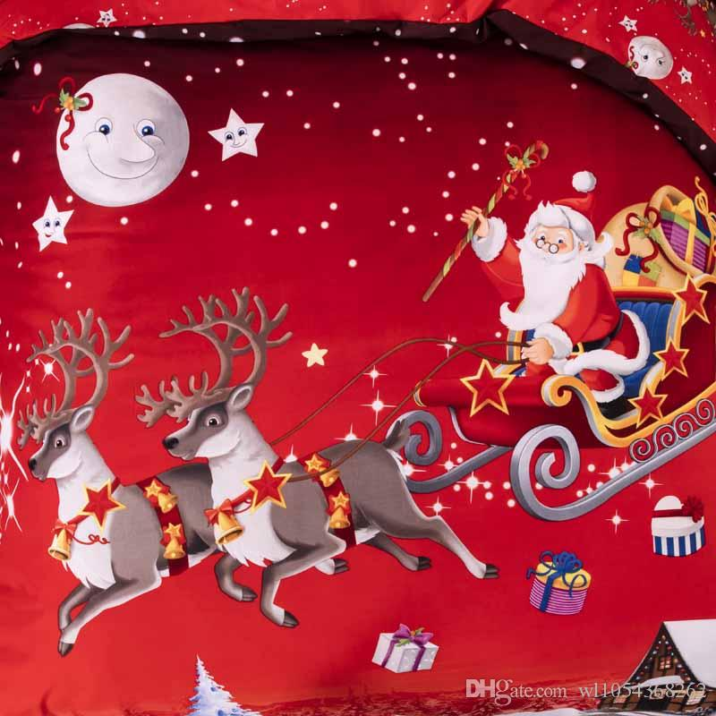 New Arrivals Santa Claus Christmas Decoration Bedding Set 3D Printed Bedspread Pillowcases For Adults Kids Christmas Gifts Duvet Cover Sets