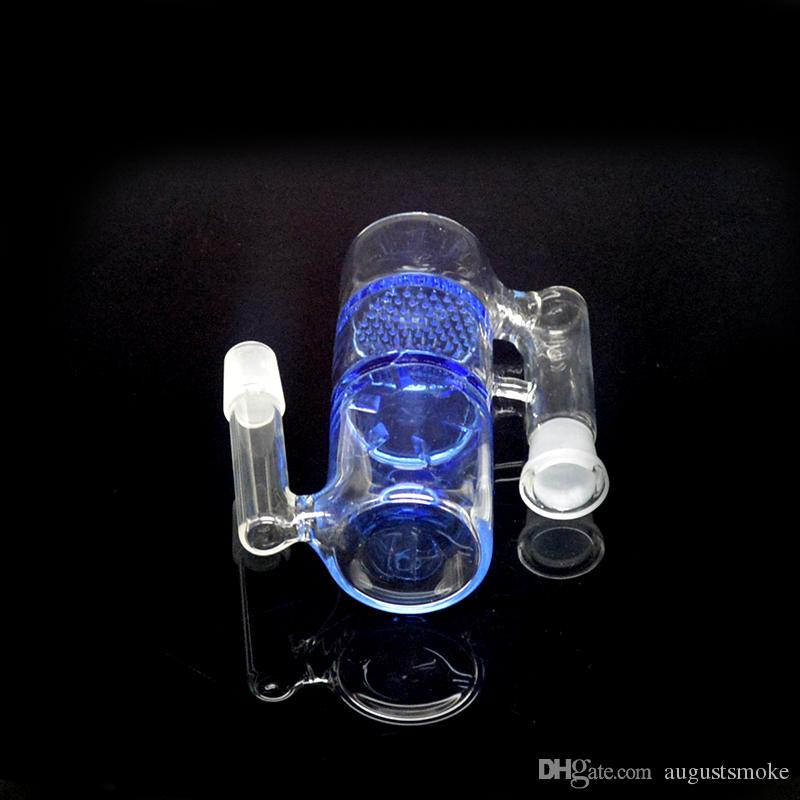14mm de favo de mel e de hidromassagem de vidro apanhador de cinzas Bubbler tubo de água de vidro Crystal Clear percolator Ashcatcher vidro Hookah 2016
