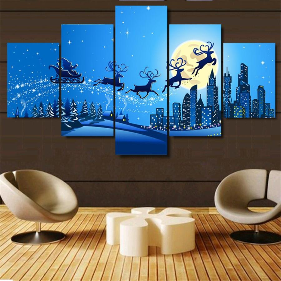 2019 Christmas New Year Home Decor Hd Printed Modern Art Painting