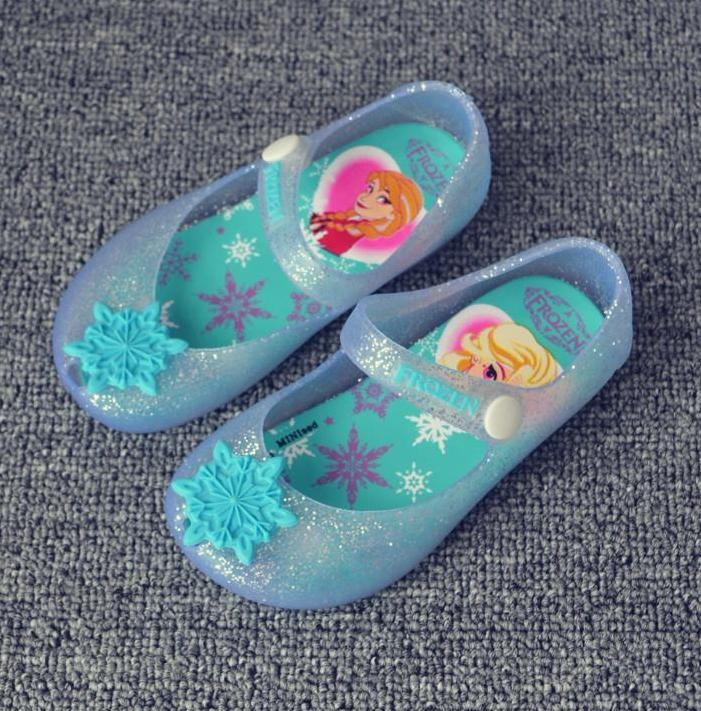 09f5ba36b15e Mini Melissa Shoes 2016 Summer Newest Baby Girl Frozen Jelly Sandals Shoes  Children Toddler Kids Cartoon Snowflake Summer Sandals Rain Shoes  Inexpensive ...