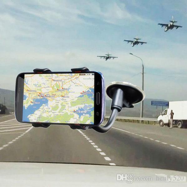 العالمي 360 درجة دوران الذراع الطويلة الزجاج الأمامي للهاتف المحمول السيارة جبل القوس حامل حامل لفون الهاتف المحمول سيارات حامل YM0116