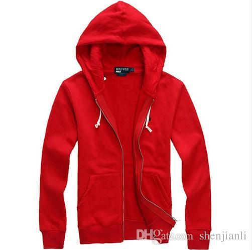 Freies Verschiffen 2017 neue heiße Verkauf Mens Polo Hoodies und Sweatshirts Herbst Winter lässig mit Kapuze Hoodies einer Sportjacke Männer