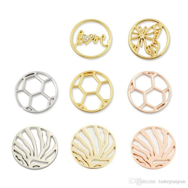 Hot Sale 22mm Alloy Floating Window Charms Plates For 30mm Glass Living Memory Locket