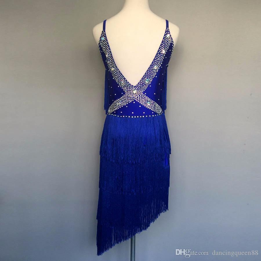 Personalizado adulto / criança New Latin Dance Dress Women Flamenco vestido Roupa De Ginastica Costume Samba Ballroom Dance Wear Enfeites Para Quarto